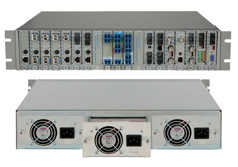 iConverter 19-Module Managed Chassis
