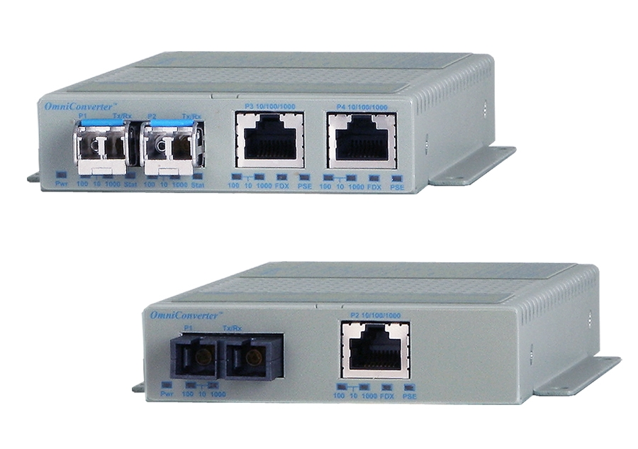 PoE Injector Media Converters