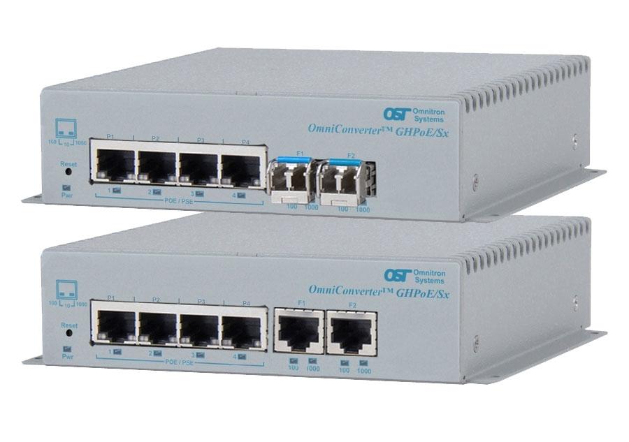 4 Port Gigabit PoE Switch and Extender with 60 Watt IEEE 802.3bt Uplink PoE Texas GPOES-EX2005-60w-Kit